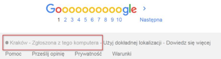 lokalizacja w google